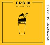 drink coffee ice. flat icon for ... | Shutterstock .eps vector #737875771