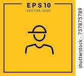 vector icon boy. user. web.... | Shutterstock .eps vector #737875789