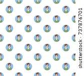 man avatar pattern seamless... | Shutterstock . vector #737876701