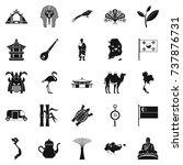 spirit of asia icons set.... | Shutterstock . vector #737876731