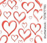 heart love shape pattern set... | Shutterstock . vector #737877781