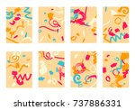 set of 8 cover templates.... | Shutterstock .eps vector #737886331