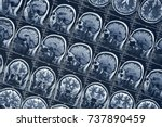 mri brain scan or x ray... | Shutterstock . vector #737890459
