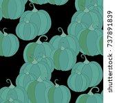 halloween background with... | Shutterstock .eps vector #737891839