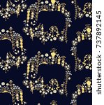 seamless vector floral pattern...   Shutterstock .eps vector #737892145