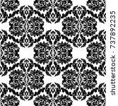 seamless abstract damask... | Shutterstock .eps vector #737892235