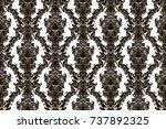 seamless abstract damask... | Shutterstock .eps vector #737892325