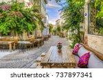 alacati  turkey   october 18 ... | Shutterstock . vector #737897341