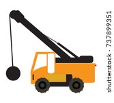 construction vehicle icon... | Shutterstock .eps vector #737899351