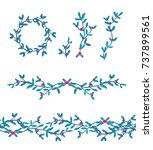 set of vector rounded frames... | Shutterstock .eps vector #737899561