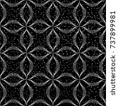 seamless black and white grunge ...   Shutterstock .eps vector #737899981