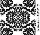 seamless abstract damask... | Shutterstock .eps vector #737900155