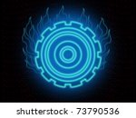 abstract blue glowing and... | Shutterstock . vector #73790536