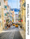 lisbon  portugal   august 26 ... | Shutterstock . vector #737907364