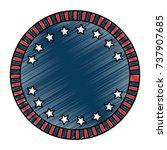united states of america emblem ... | Shutterstock .eps vector #737907685