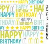 fun birthday pattern   Shutterstock .eps vector #737911969