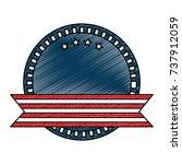 united states of america emblem ... | Shutterstock .eps vector #737912059