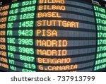 display panel flights | Shutterstock . vector #737913799