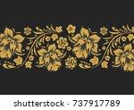 russian style flowers   Shutterstock .eps vector #737917789