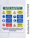 building site health and safety ... | Shutterstock . vector #737919409