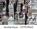 close up on buildings in new... | Shutterstock . vector #737919565
