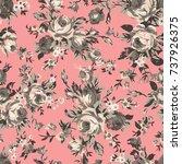 shabby chic or granny chic... | Shutterstock .eps vector #737926375