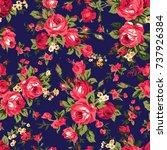 shabby chic or granny chic... | Shutterstock .eps vector #737926384