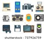 vintage technologies vector... | Shutterstock .eps vector #737926759