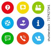 set of 9 maintenance icons set... | Shutterstock .eps vector #737927341
