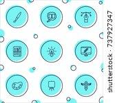 set of 9 constructive outline... | Shutterstock .eps vector #737927347