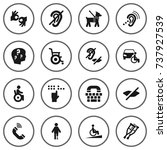 set of 16 accessibility icons... | Shutterstock .eps vector #737927539