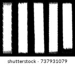 set of grunge brush strokes   | Shutterstock .eps vector #737931079
