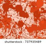 seamless paint splatter pattern ... | Shutterstock .eps vector #737935489