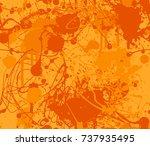 seamless paint splatter pattern ...   Shutterstock .eps vector #737935495