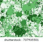 seamless paint splatter pattern ...   Shutterstock .eps vector #737935501