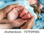 family  newborn | Shutterstock . vector #737939581