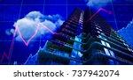 3d image of modern office ... | Shutterstock . vector #737942074