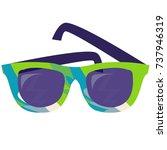 cartoon sunglasses full color | Shutterstock .eps vector #737946319