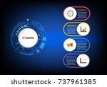 business data visualization.... | Shutterstock .eps vector #737961385