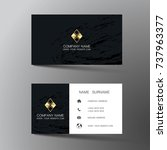 modern business card template... | Shutterstock .eps vector #737963377