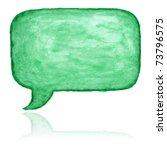 green watercolor blank speech...   Shutterstock . vector #73796575