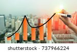 hand writing line graph and bar ... | Shutterstock . vector #737966224