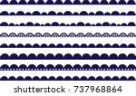 scalloped border navy | Shutterstock .eps vector #737968864