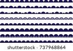 scalloped border  lace  brush ...   Shutterstock .eps vector #737968864