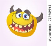 cartoon yellow monster.vector... | Shutterstock .eps vector #737969965