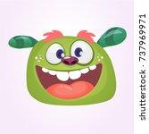 cartoon green monster.vector... | Shutterstock .eps vector #737969971