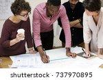 diverse business people working | Shutterstock . vector #737970895