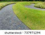 Black Gravel Walk In Garden An...
