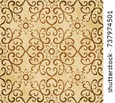 retro brown watercolor texture... | Shutterstock .eps vector #737974501