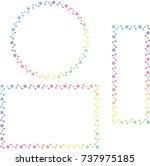 snow crystal frame set | Shutterstock .eps vector #737975185